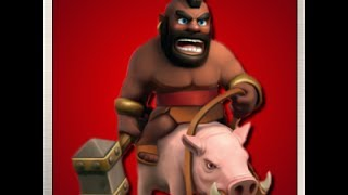Clash of Clans ~ 40 Domuz binici saldırsı ~ 40 Hog Rider Attack