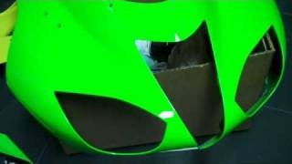 motorcycle fairing repair on abs plastic clearcoat part 5 wmv