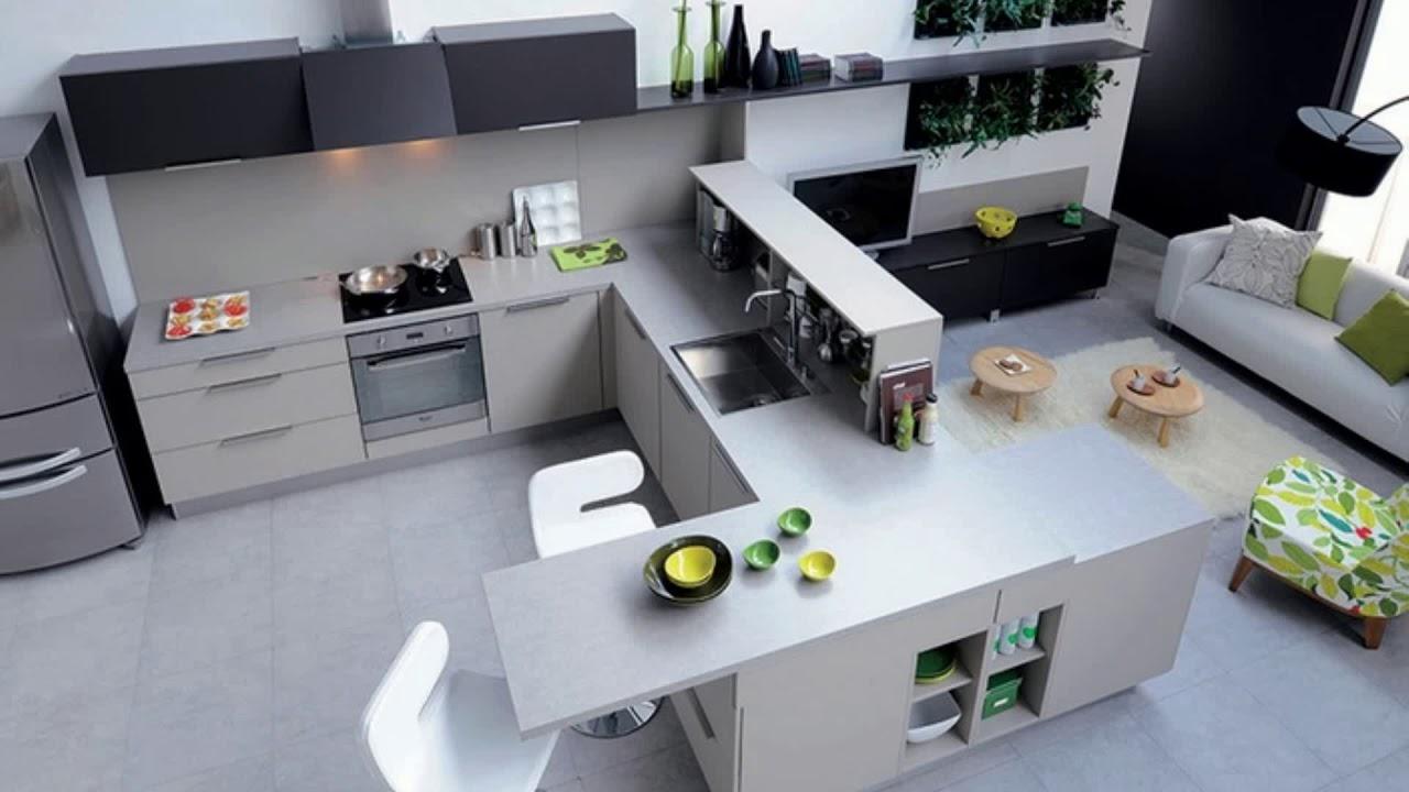 vraiment cool meuble cuisine avec table escamotable