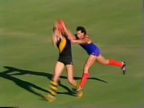1986 Round 1 VFL Richmond Vs Melbourne at MCG, 30 mins  Sevens Big League, last Quarter