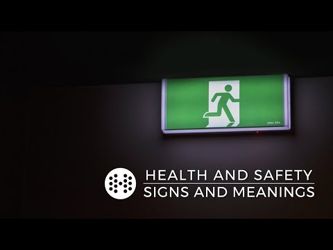 Health and safety signs and meanings