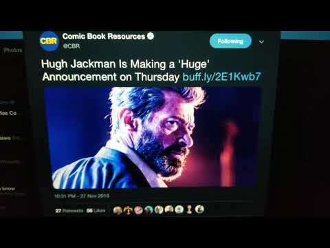 Huge Announcement from Hugh Jackman Tomorrow