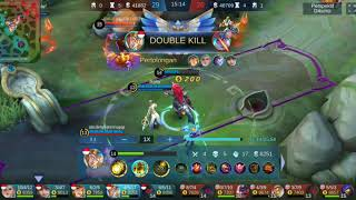 MANIAC hylos tank!!! First time!! In RANK TANKER = MOBILE LEGENDS