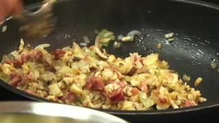 Cook with Aldonza  Mushroom ravioli with saffron and cream sauce