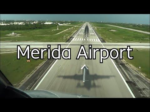 Aterrizaje En El Aeropuerto De Merida, Vista De Cabina De Pilotos.