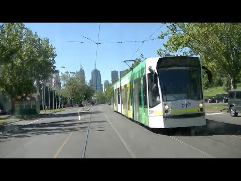 Driver's View Rt  64 East Brighton to Melb  Uni  Part 2 from St Kilda Junction