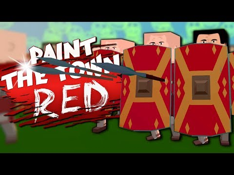 THE BATTLE OF 300! - Container Ship & More Workshop Creations - Paint The Town Red Gameplay