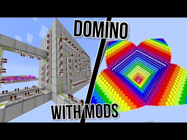 Domino In Minecraft But With Mods