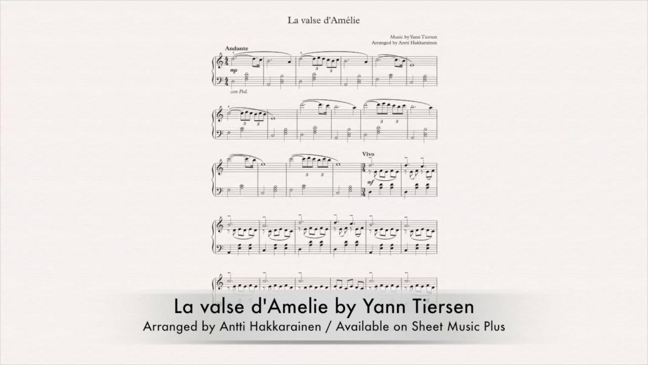 La Valse Damelie Piano