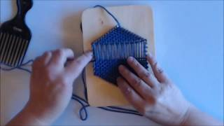 How to Weave a Hexągon on a Pin Loom (All-In-One Version)