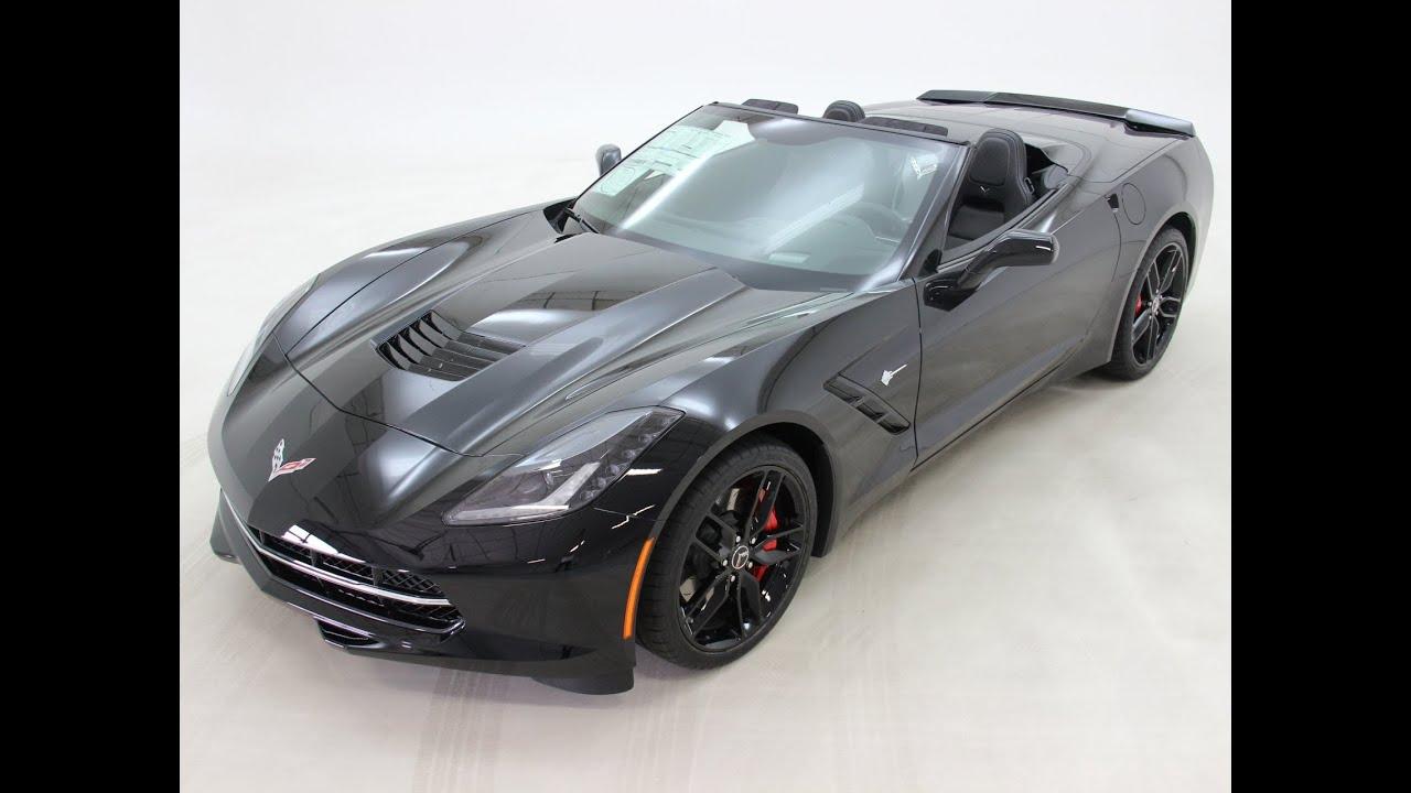 Black 2014 Corvette Stingray Convertible 3lt Z51 How It