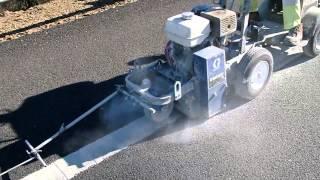 видео Демаркировочная машина Graco Grindlazer 390