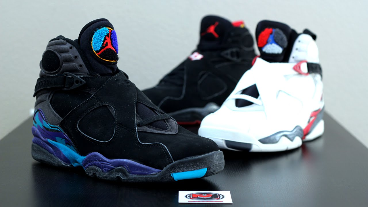 9b89e100bafa The Complete 1993 OG Air Jordan 8 VIII Set - YouTube