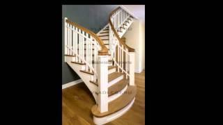 Дубовая лестница  Проектирование г-образной лестницы  Монтаж(, 2016-01-03T16:42:07.000Z)