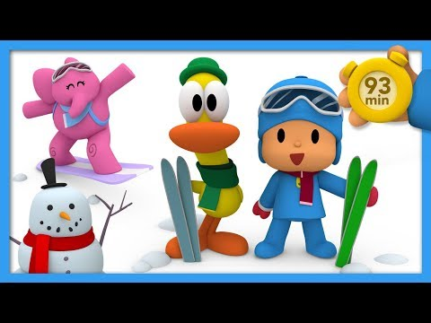 🎿 POCOYO AND NINA - Winter Sports Week [93 minutes]   ANIMATED CARTOON for Children   FULL episodes