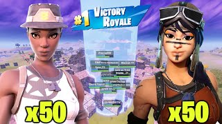 I hosted a 100 RARE SKIN custom scrim in Fortnite... (INSANE)