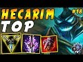 Hecarim TOP with Conqueror and Ignite PLUS Teleport | Iron IV to Diamond Episode #18