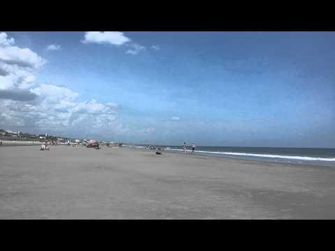 Пляж Isle of Palms in Charlston. Южная Каролина.