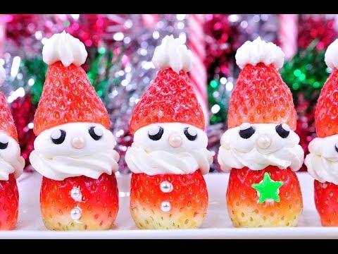 ซานตาสตอเบอรี่ - คัพเค้กซานต้า Santa Stawberry (Christmas Desserts)