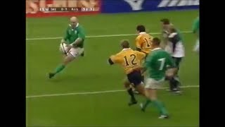 Keith Wood sidestep and hoof vs Australia 1999