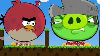 Angry Birds Cannon 3 - MAD TERENCE BIRDS FORCING OUT BIGGEST PIGGIES!