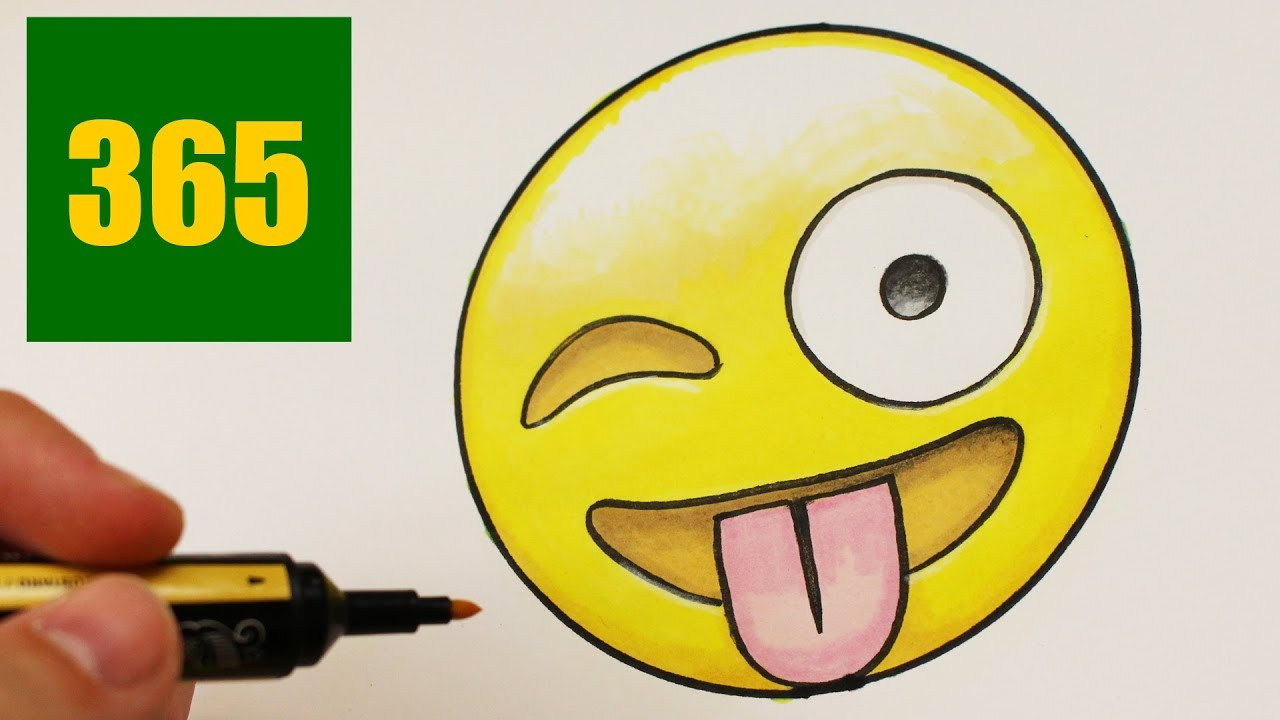 Comment Dessiner Un Emoji Facile Dessins Emoji Facile