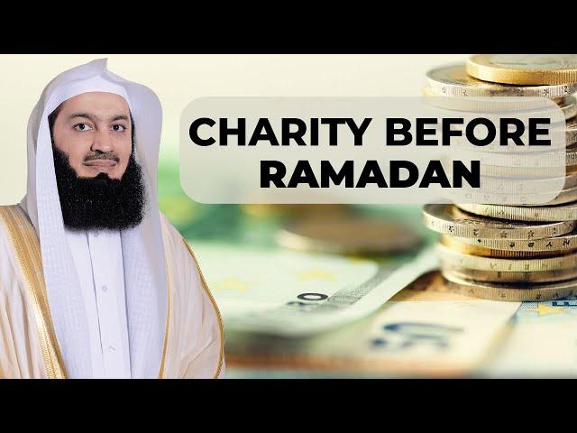 Should I give my Zakaah & Charity BEFORE Ramadan? - Mufti Menk