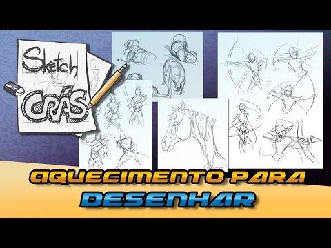 Aquecimento para desenhar - Sketch Crás