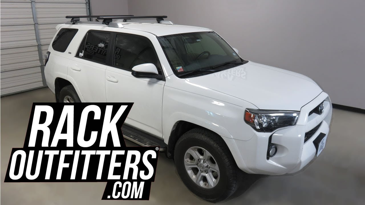 Toyota 4runner With Yakima Timberline Hd Bar Roof Rack Crossbars Youtube