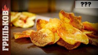 Картофельные чипсы с паприкой (сравнение рецепта в свч и во фритюре)