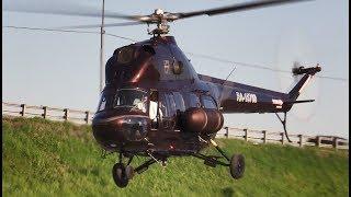 """Модернизированный Вертолет Ми-2 - Запуск И Взлет """"Helirussia-2018"""""""