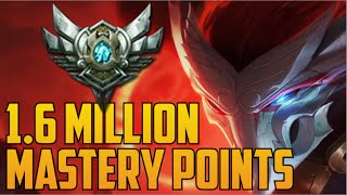 SILVER YASUO 1,600,000 MASTERY POINTS- Spectate 3rd Highest Mastery Points on Yasuo