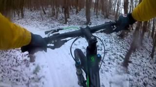 mtb'en in de sneeuw