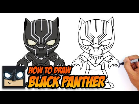 How to Draw Black Panther (Chibi)- Kids Art Lesson