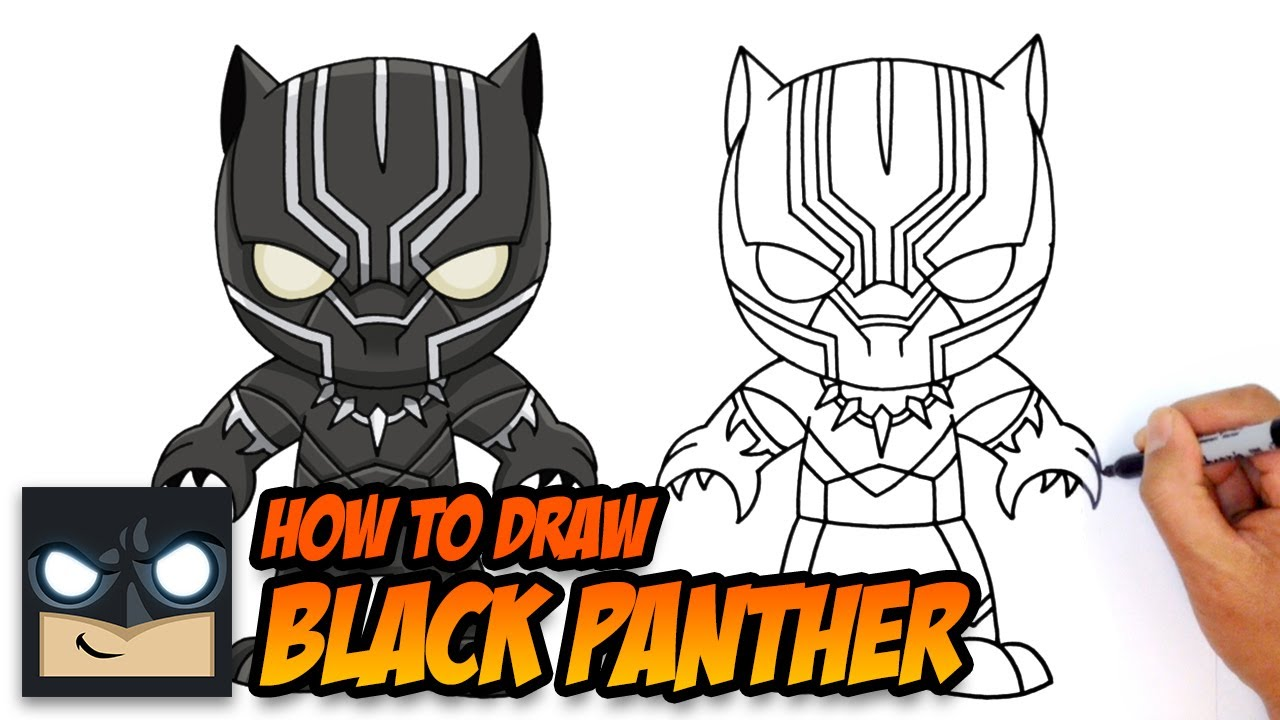 how to draw black panther the avengers