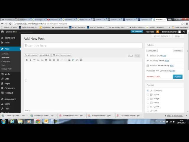 Wordpress.com Menus Submenus, Pages, Post Categories
