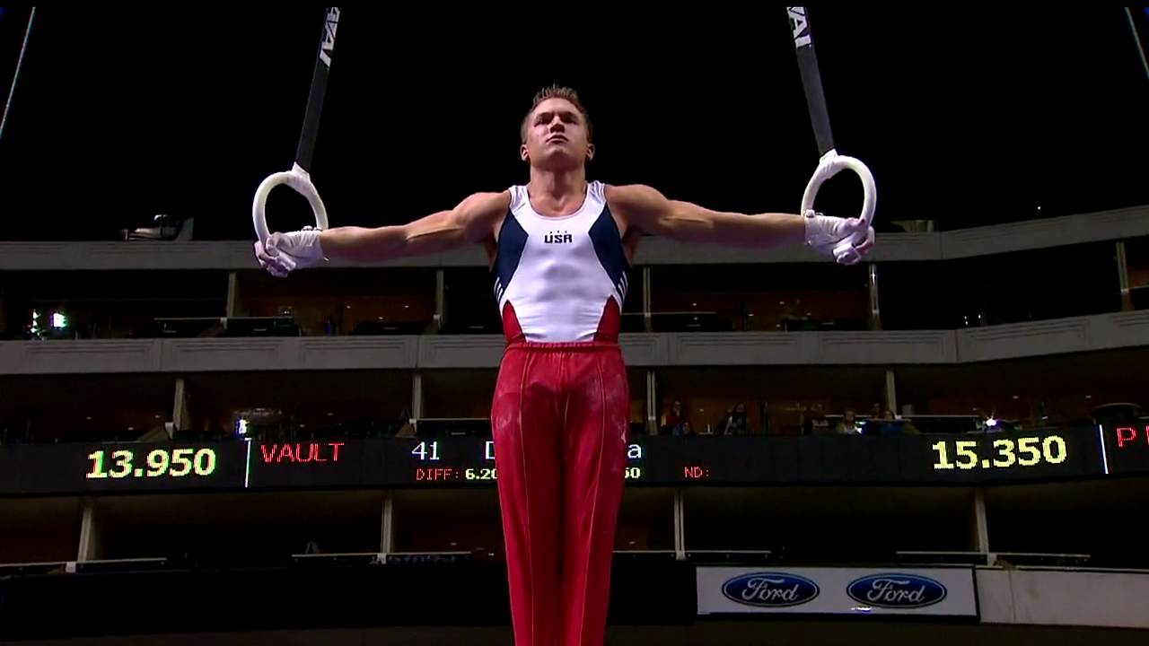 Jonathan Horton - Still Rings - 2009 Visa Championships - Men - Day 2 -  YouTube