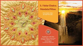 How it was made - DST 3. Solar Chakra Mandala Pillow (DST / Time-lapse)