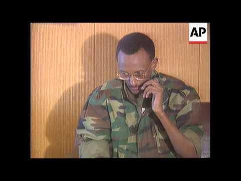 Rwanda - RPF Leader Kagame Press Conference