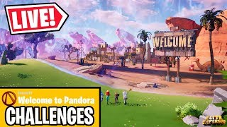 🔴 *NEW* FORTNITE WELCOME TO PANDORA CHALLENGES & REWARDS (FORTNITE LIVE)