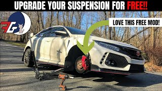 Honda Civic Type R (FK8) FREE Suspension MOD   Get more CAMBER with this SIMPLE TRICK!