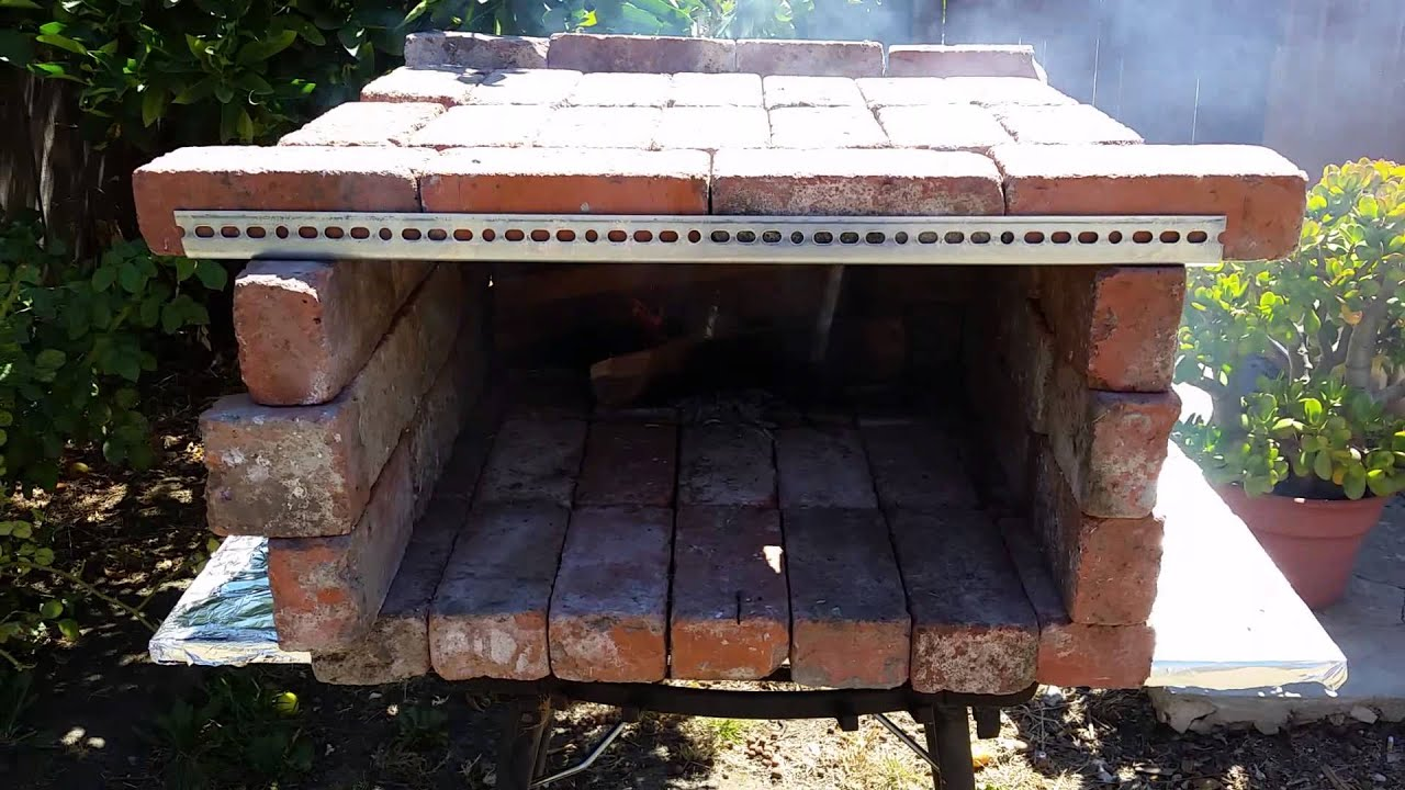 brick pizza oven diy homemade outdoor brick pizza oven step by step
