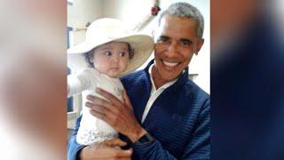 Mom, baby run into Obama at Alaska airport