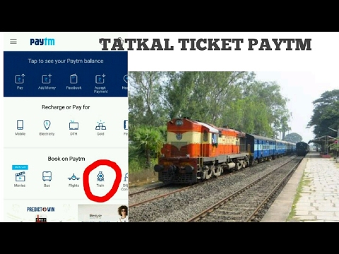 How to book tatkal ticket through paytm || irctc tatkal ticket online booking ||