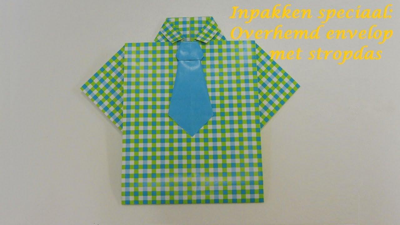 Inpakken Speciaal Overhemd Envelop Met Stropdas