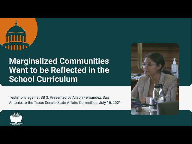 Marginalized Communities Want to be Reflected in the School Curriculum – Student Testimony