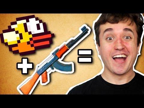 Flappy Bird com ARMAS! - Flappy Guns (ipad)