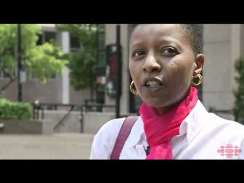 Louise Uwacu - CBC News. Radio-Canada Interview in Vancouver.