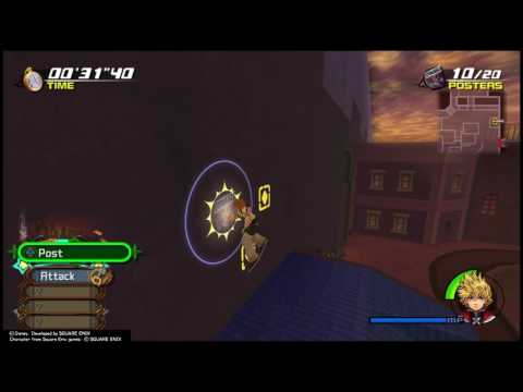 Kingdom Hearts 2-Quickest Poster Route with Roxas