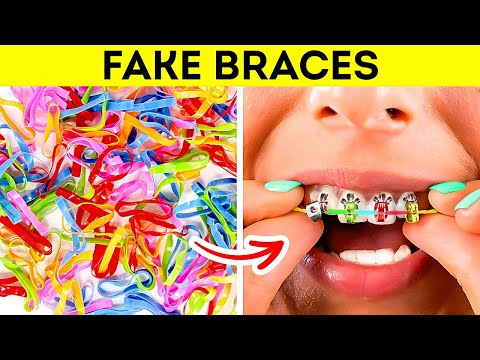 DIY FAKE BRACES! CRAZIEST GIRLY HACKS EVER by 5-Minute Crafts LIKE